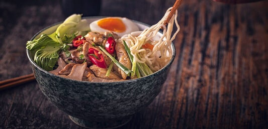 Photo of Noodles in a Bowl