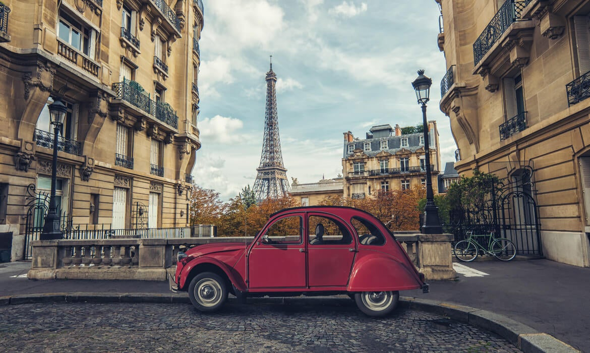 Title page image of car in Paris