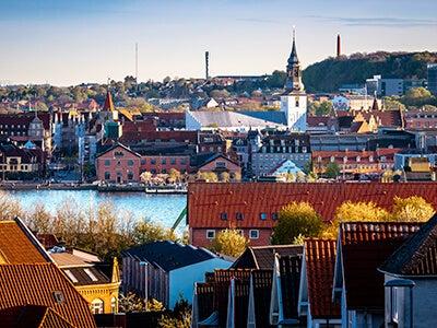Book flights from Copenhagen to Aalborg with Danish Air Transport