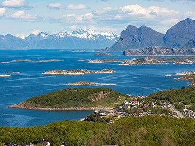Vols Wideroe entre Ålesund et Bodø