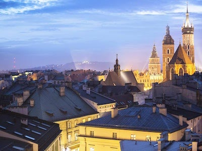 Flights from Eindhoven to Krakow with Ryanair
